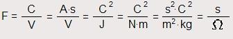 Capacidad eléctrica Faradio y equivalencias